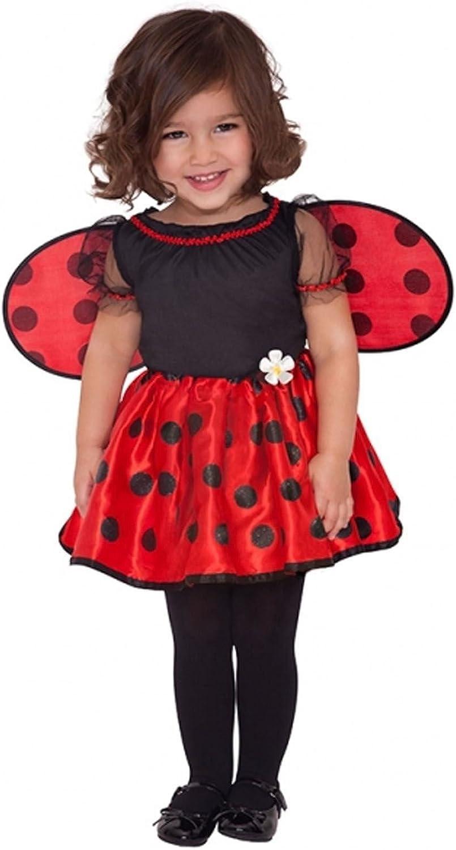Kids Ladybug Costume Girls Ladybird School Book Day Fancy Dress Outfit Large