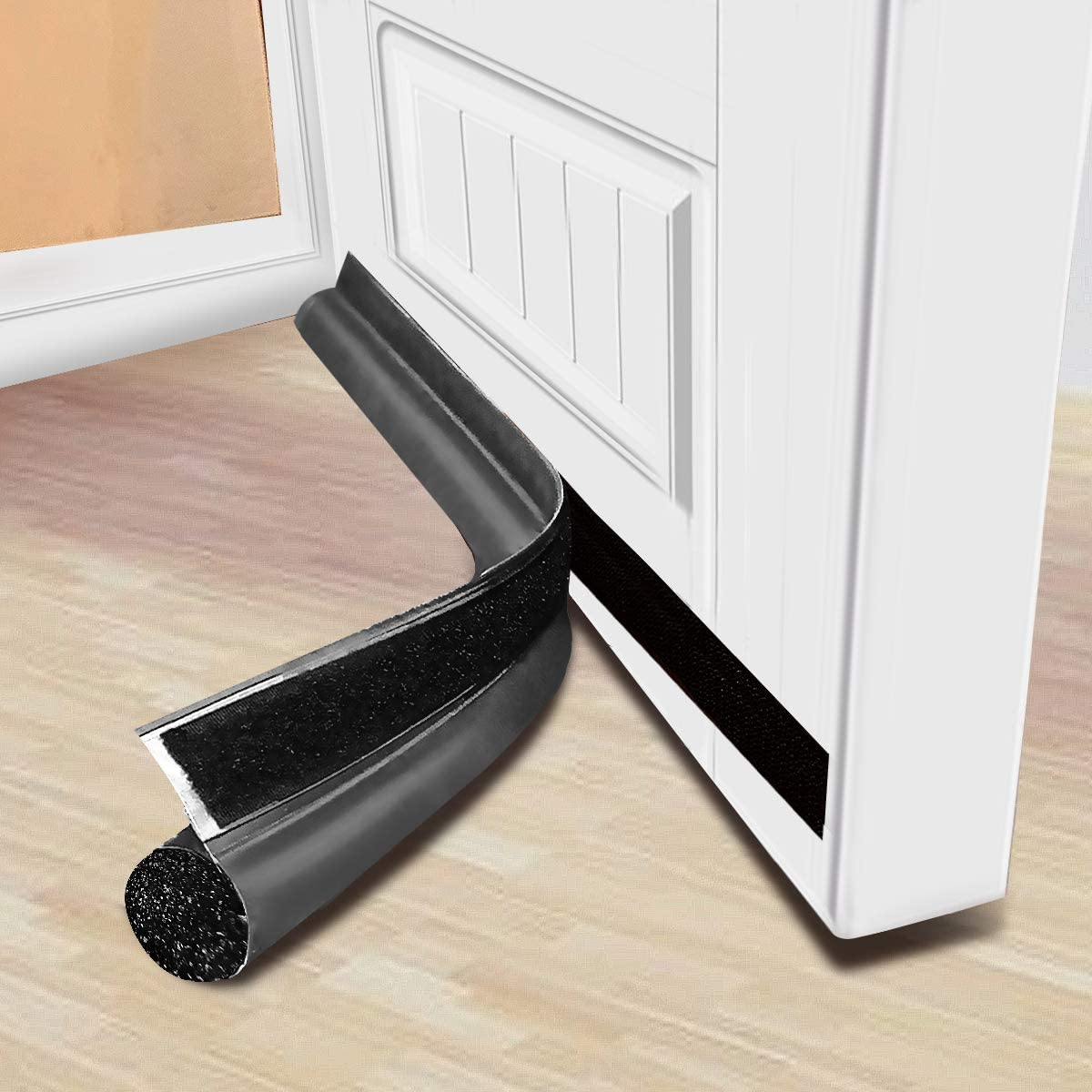 MAXTID Grey Door Draft Blocker Door Strips for Bottom of Doors 30inches Entry Door Insulation Door Sweeper