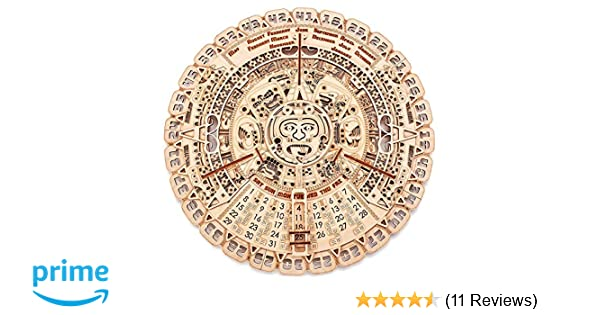 Wood Trick Mayan Wall Calendar Wooden Mechanical Model 161x161 3d Wooden Puzzle Assembly Constructor Brain Teaser For Adults And Kids Best