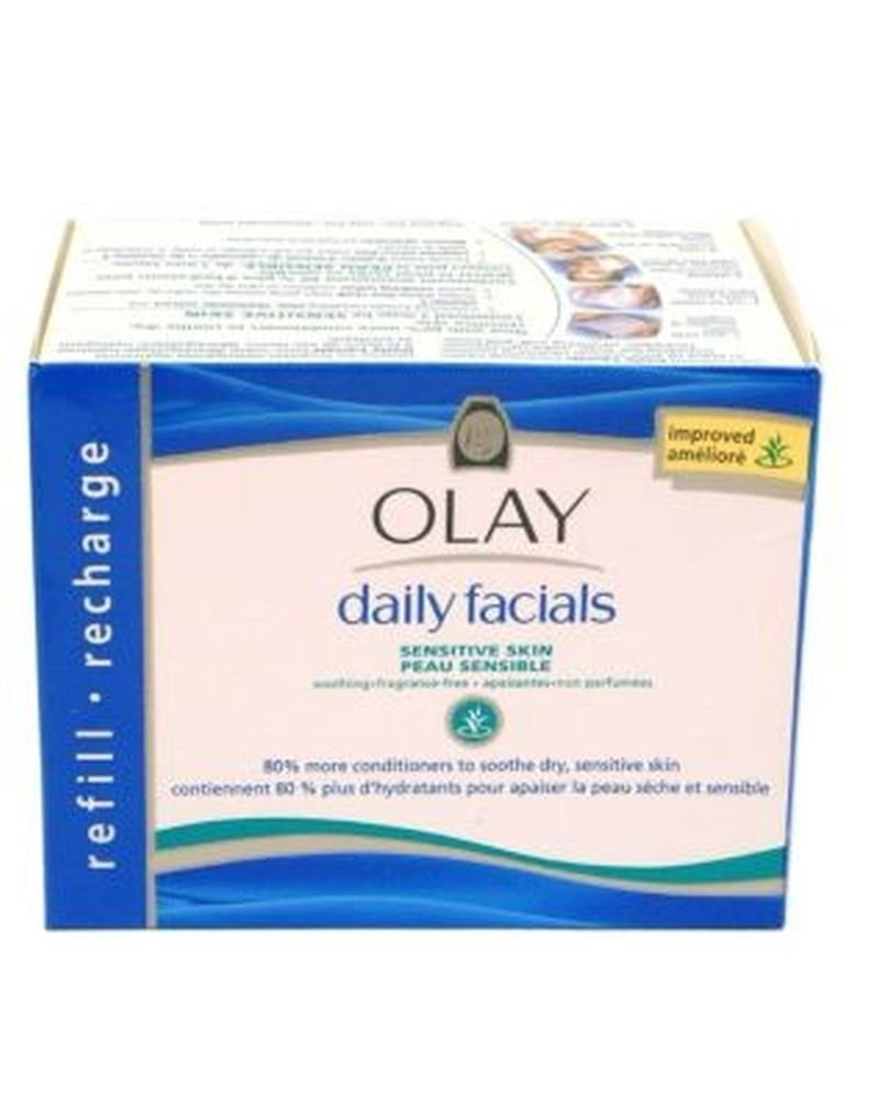 Olay Daily Facials Cleansing Cloths Refill Pack Sensitive 30s Soap Ampamp Glory Irresistibubble Gift Set Kitchen Home