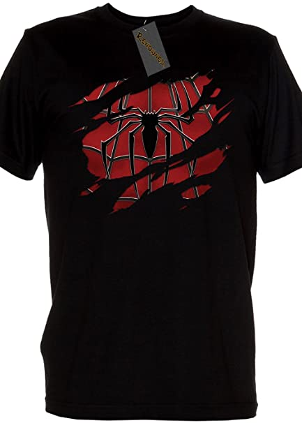 Renowned Mens Shirt-Super Hero Spiderman con Traje Under Mens ...