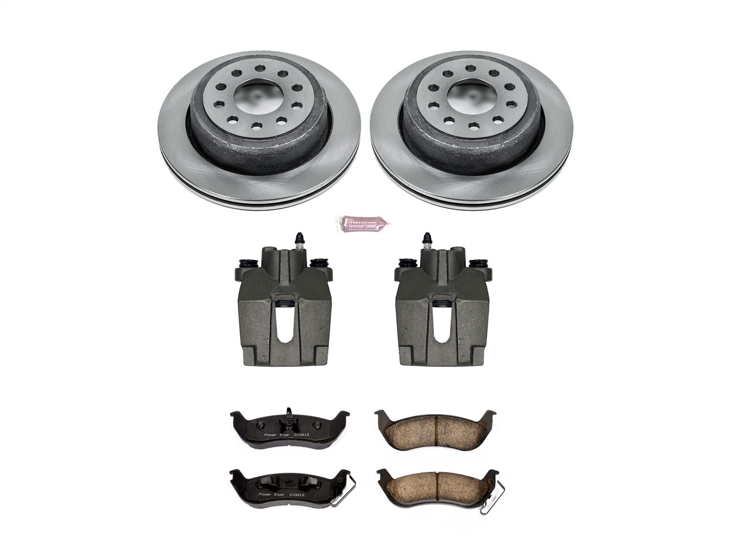 Power Stop KCOE5293 Rear Stock Replacement Brake Kit with Calipers