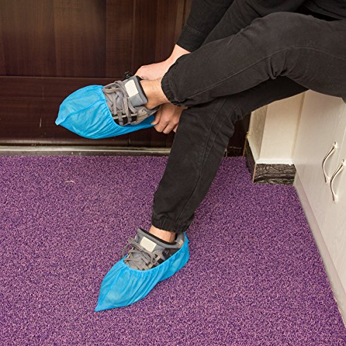 100 pcs Home Disposable Thick Boot & Shoe Cover (5g/pc) - Non-skid & Durable for Workplace, Medical, Indoor or Car Carpet Floor Protection by PAMASE (Image #2)