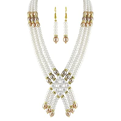 2d34cc78274 Buy 3 String Pearl Necklace Set Online at Low Prices in India ...