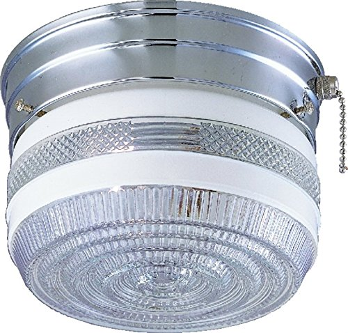 (Boston Harbor F13CH01SW-6859CL3 6329197 Dimmable Ceiling Light Fixture with Pull Chain, (1) 60/13 W Medium A19/Cfl Lamp, Chrome )