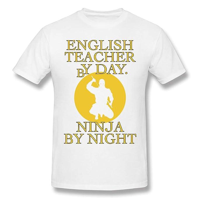 Vintage English Teacher by Day Ninja by Night Camiseta ...