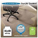 ES Robbins AnchorBar 36'' x 48'' Professional Series Lip Chair Mat, Clear