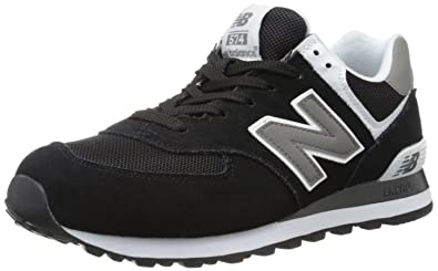 New Balance Men\u0027s ML574 Classic Sneaker,Black/White,6.5 2E US