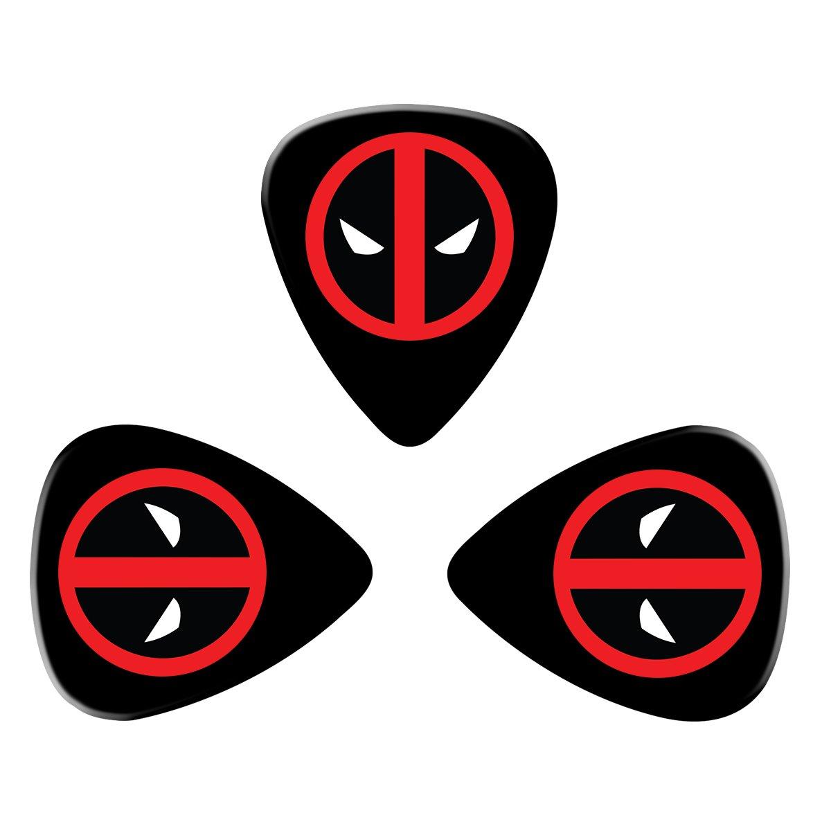 pimalico Classic Deadpool Logo diseño Púas (3 unidades) para guitarra eléctrica, guitarra acústica, mandolina, y Graves/negro: Amazon.es: Instrumentos ...
