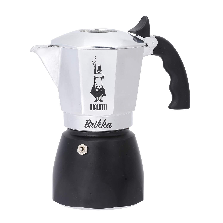 Bialetti : Brikka Stovetop Espresso Maker 4 Cup - Black Bottom by Bialetti