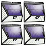 Solar Lights Outdoor, Mitaohoh 82 LEDs Wireless Waterproof Solar Motion Sensor Light Outdoor with 3 Sided Illumination and 270° Wide Angle for Garden, Yard, Fence, Step, Front Door(4 Pack)