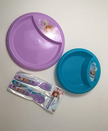 Disney Frozen Dinnerware 6 Piece Toddler Dinnerware Set Flatware Bowl and Dish Bundle & Amazon.com : Disney Frozen Dinnerware 6 Piece Toddler Dinnerware Set ...
