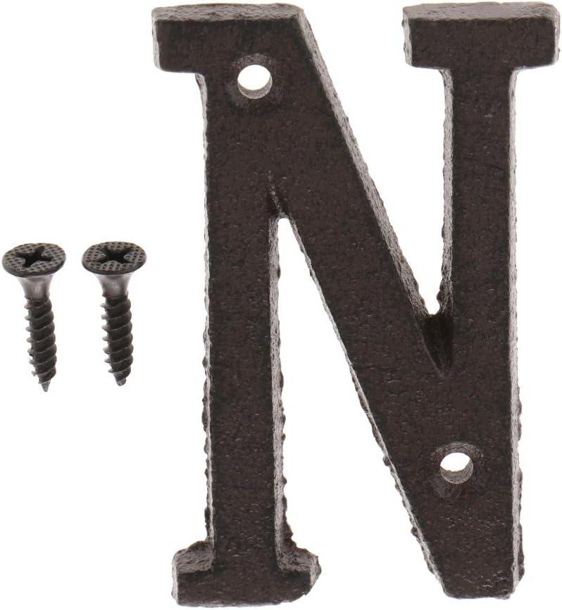 A LOVIVER Lettera Metallo Alfabeto per Viti Elementi da Fissaggio Inglese Fai da Te Rustico Segno di Camera per Decorazioni da Murali
