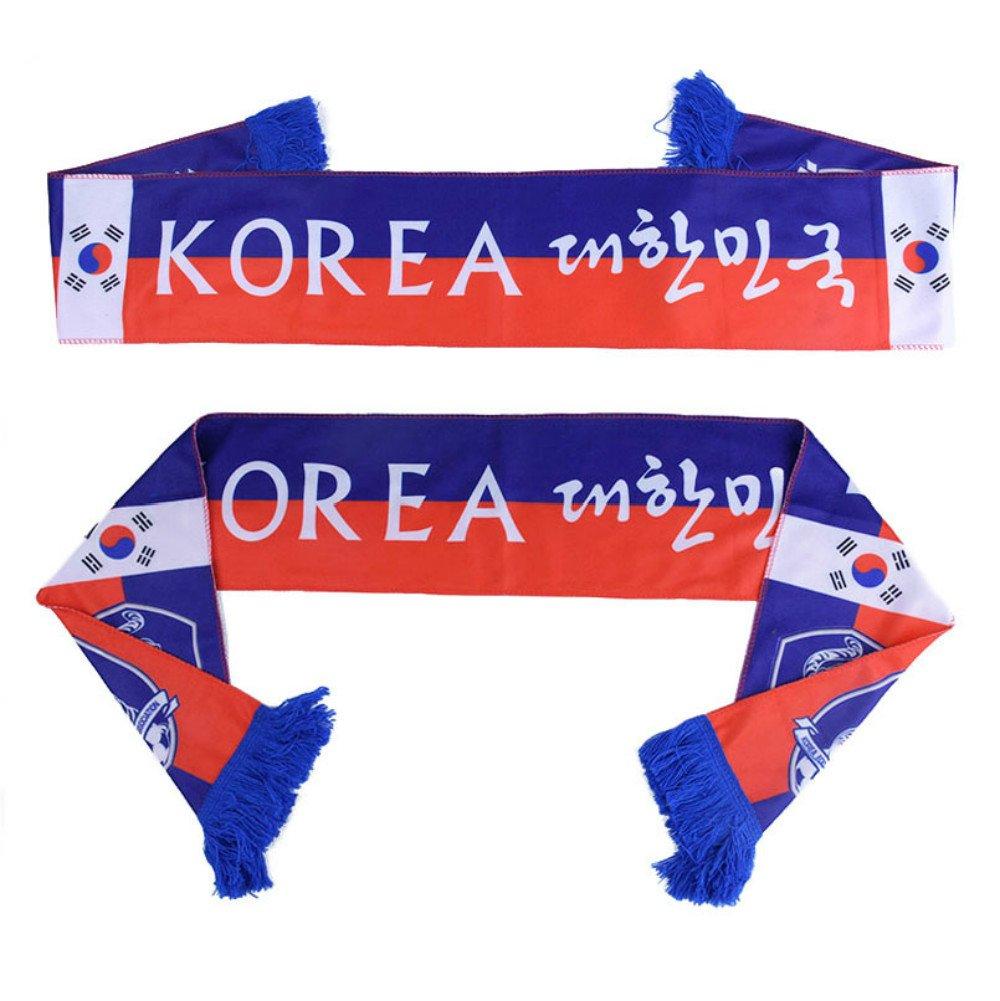 PENVEAT Russia World Cup 2018Football sciarpa squadre di calcio fan sciarpa squadra nazionale Corea bandierine squadre di calcio sciarpa, Corea