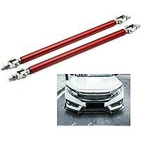 2Pcs Universal Adjustable Front Bumper Lip Splitter Strut Rod Tie Support Bar