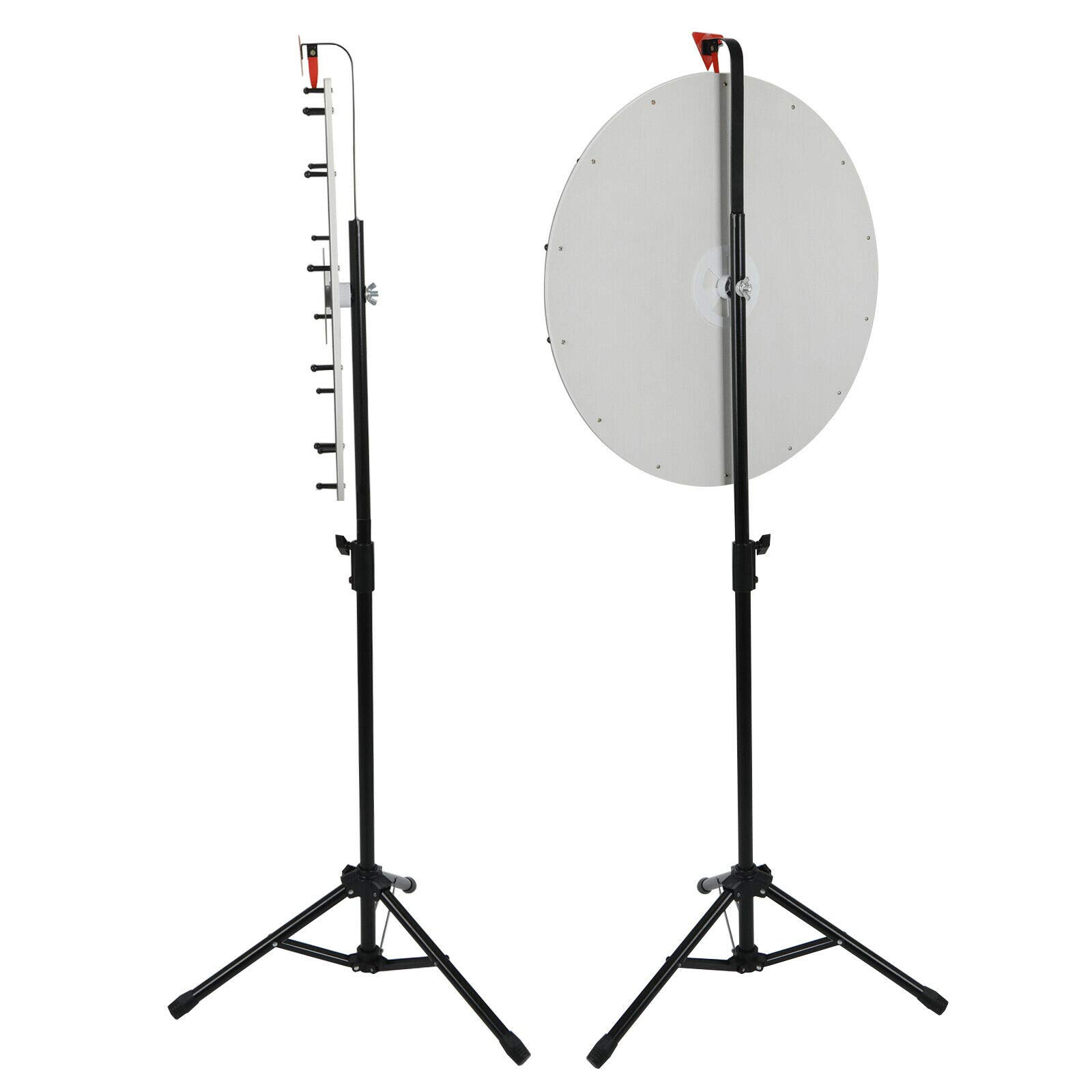 24'' Prize Wheel Metal Tripod Adjustable Floor Stand Editable Reusable Dry Erase Color Portable 14 Slot Perfect For Trade-shows Promotion Activities Carnivals Annual Meetings Holiday Activities Parties by Auténtico (Image #3)