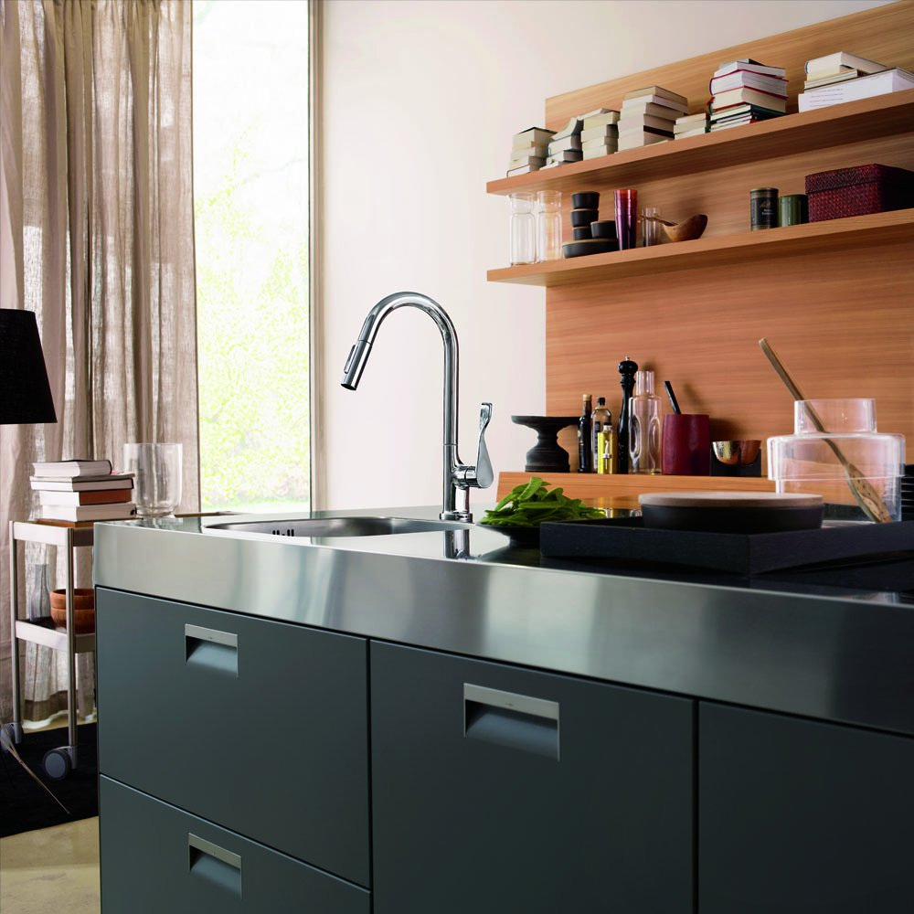 Hansgrohe 39835001 Axor Citterio Pull Out Spray Kitchen Faucet, Chrome    Touch On Kitchen Sink Faucets   Amazon.com
