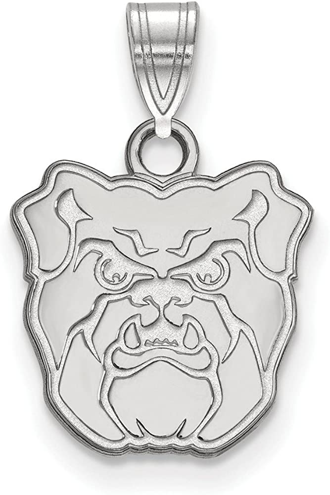 Solid 925 Sterling Silver Official Butler University Small Pendant Charm 18mm x 12mm