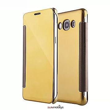 release date dc9e4 ddd8d Sun Mobisys; Samsung Galaxy J2 Pro and J2 2016 Gold Flip Cover; Clear View  Flip Cover for Samsung Galaxy J2 Pro and J2 2016 Navy Blue Mirror