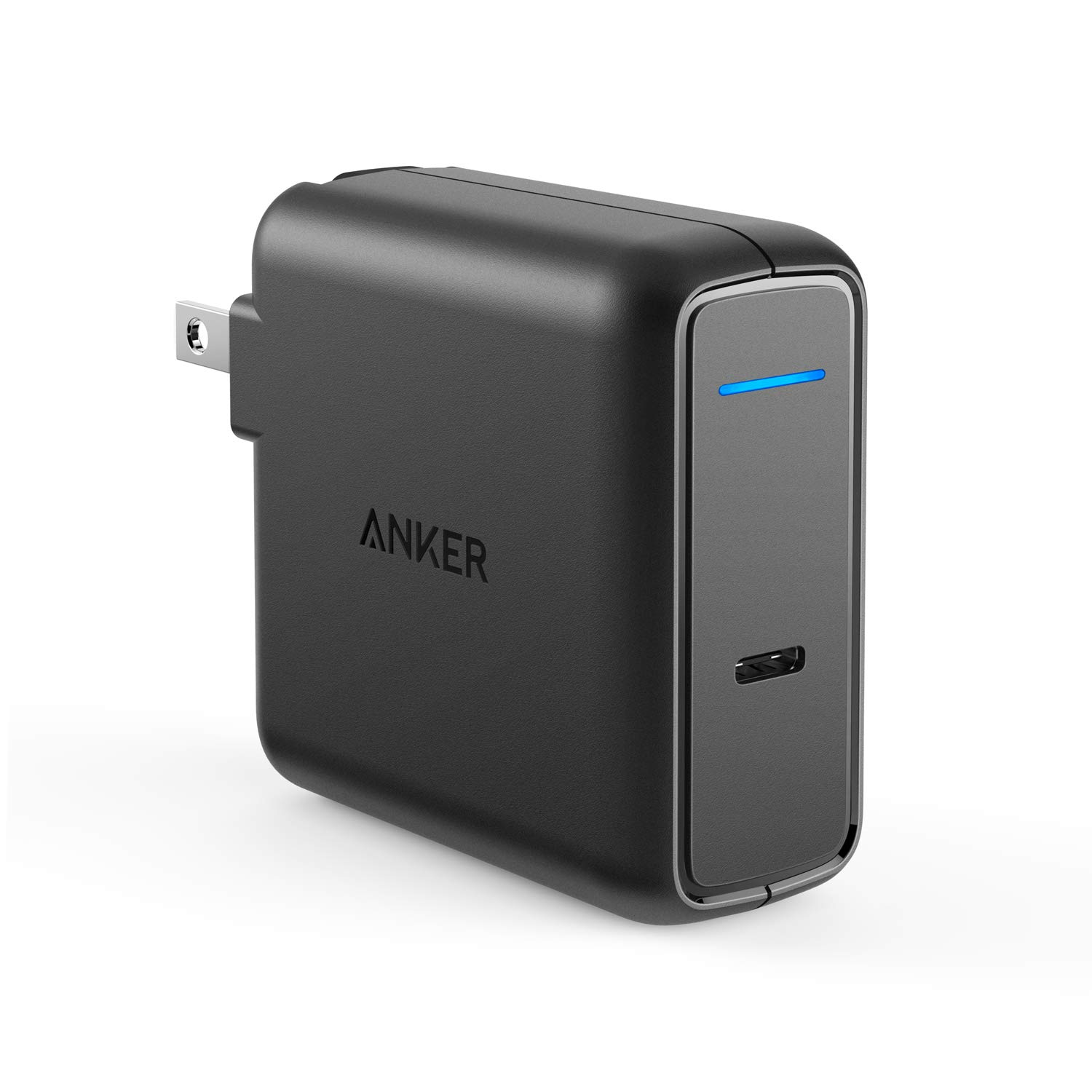 Anker USB Type-C with Power Delivery 60W USB Wall Charger, PowerPort Speed 1 for MacBook Pro/Air 2018, iPad Pro 2018, HTC 10, Nexus 5X/6P, LG G6, Pixel C/3/2/XL, MateBook, HP Spectre, Moto Z and More