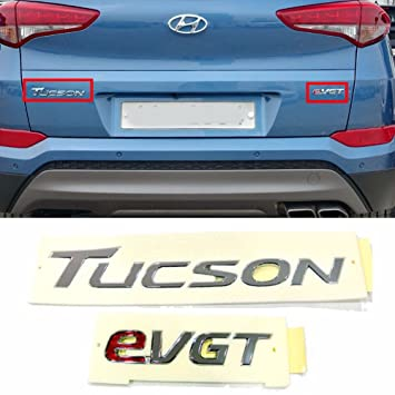 Amazon.com: Rear Trunk TUCSON EVGT Logo Emblem Badge For Hyundai 2016- Tucson ix35 OEM Parts: Automotive
