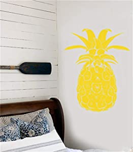 Jaklot-decals Motivational Wall Sticker Quotes Cartoon Wall Decal Stickers Pineapple Tropical Fruit Beach Style