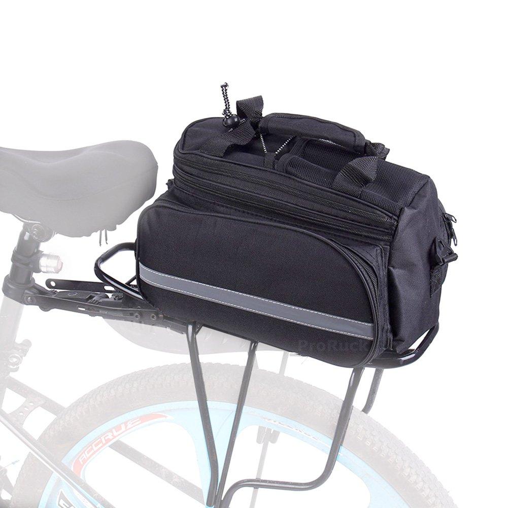 multifuncional Mochila trasera para bicicletas con bandas reflectantes nailon impermeable