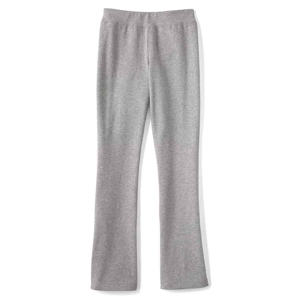 Lands' End Girls Plus Yoga Boot Cut Pants, XL, Gray Heather