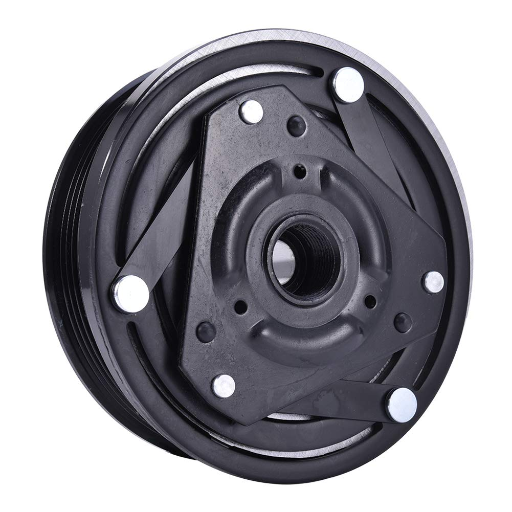 Younar A//C AC Compressor Clutch Assembly 6 Groove 5 inch Pulley for Chevy GMC 5.7L 4.3L 5.0L 6.5L Pulley Coil DMA830