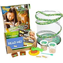 [Sponsored] Insect Lore Deluxe Butterfly Garden with 2 Live Cups of Caterpillars and Feeding Habitat Kit