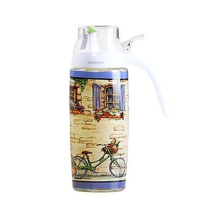 Botella de aceite de vidrio, botella de aceite de vidrio, dispensador de aceite a