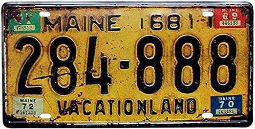 Placa de matrícula de coche, de la marca Eureya; para hogar ...