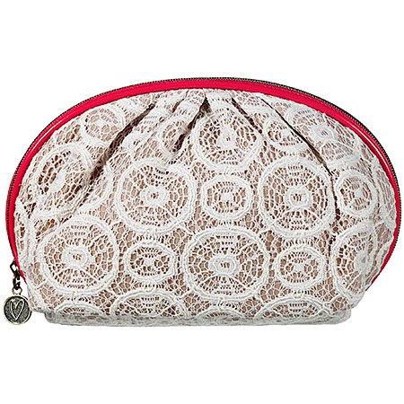 Charlotte Ronson Hampton's Kiss Makeup Bag 7 x 4.75 x 2.75″, Bags Central