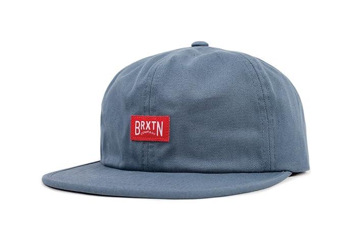 683c2be3c37 ... sweden brixton mens langley low profile adjustable hat grey blue one  size e63da b8a4d ...