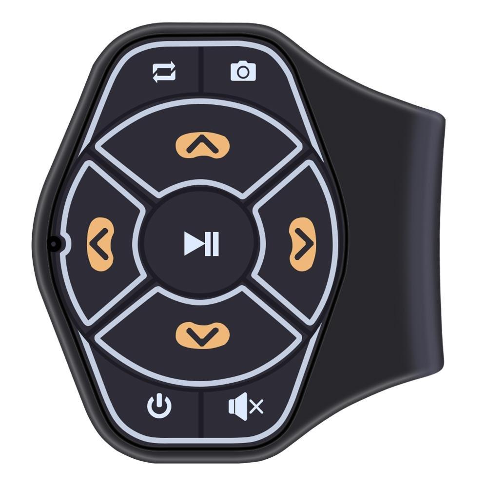 Botó n de volante de coche media inalá mbrico mando a distancia Bluetooth mú sica Audio Soporte Manillar Easy-topbuy123