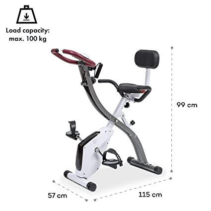 Klarfit X-Spline • Bicicleta estática • Correas flexibles • Transmisión por correa • SilentBelt
