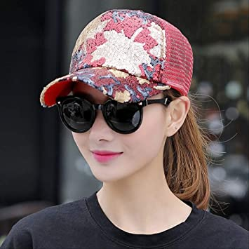 XBQMHBC Gorra de béisbol Summer Leaves Gorra Summer Lady Decora el ...