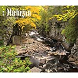 Michigan, Wild & Scenic 2018 14 x 12 Inch Monthly Deluxe Wall Calendar, USA United States of America Midwest State Nature