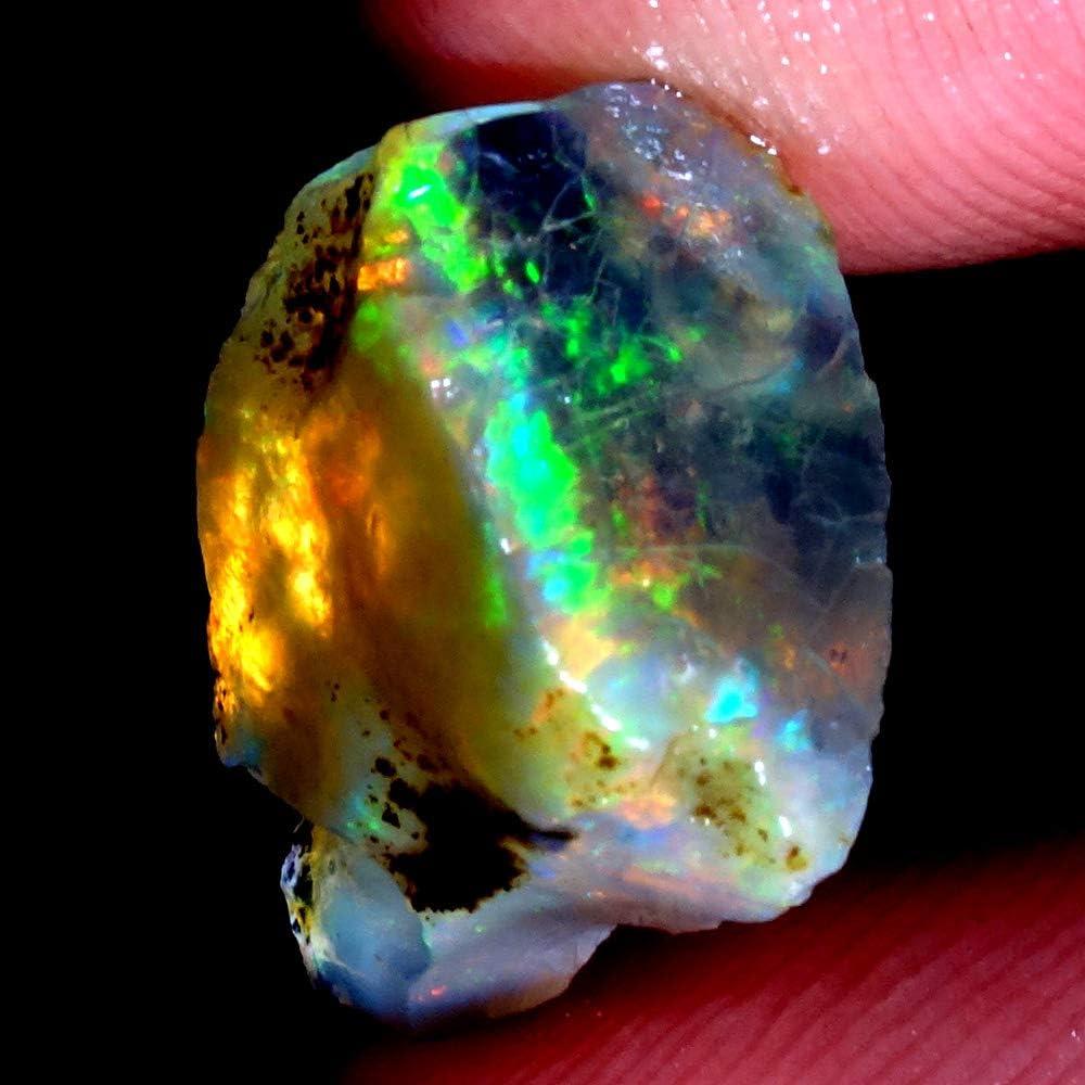 Ethiopian Black Fire Opal Rough Play Of Color Specimen 100/%Natural gemstone