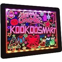Kookoosmart LED Writing Message Board, Neon Glow Drawing Board, Light Up Flashing Box Message, Erasable Board Arts and…