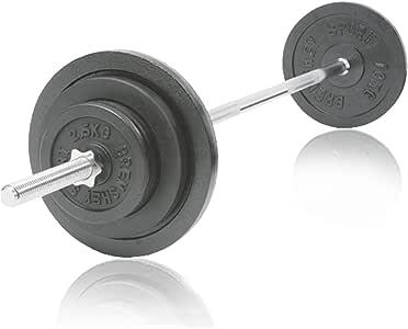 Barra con pesas-Set, 50 kg: Amazon.es: Deportes y aire libre