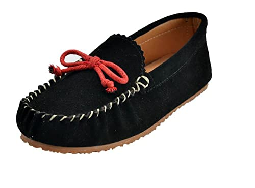 feec1858fb3 MOC PAPA Girl s Boy s Black Cow Suede Slip-on Loafer Slippers Moccasin  Slippers Size 1