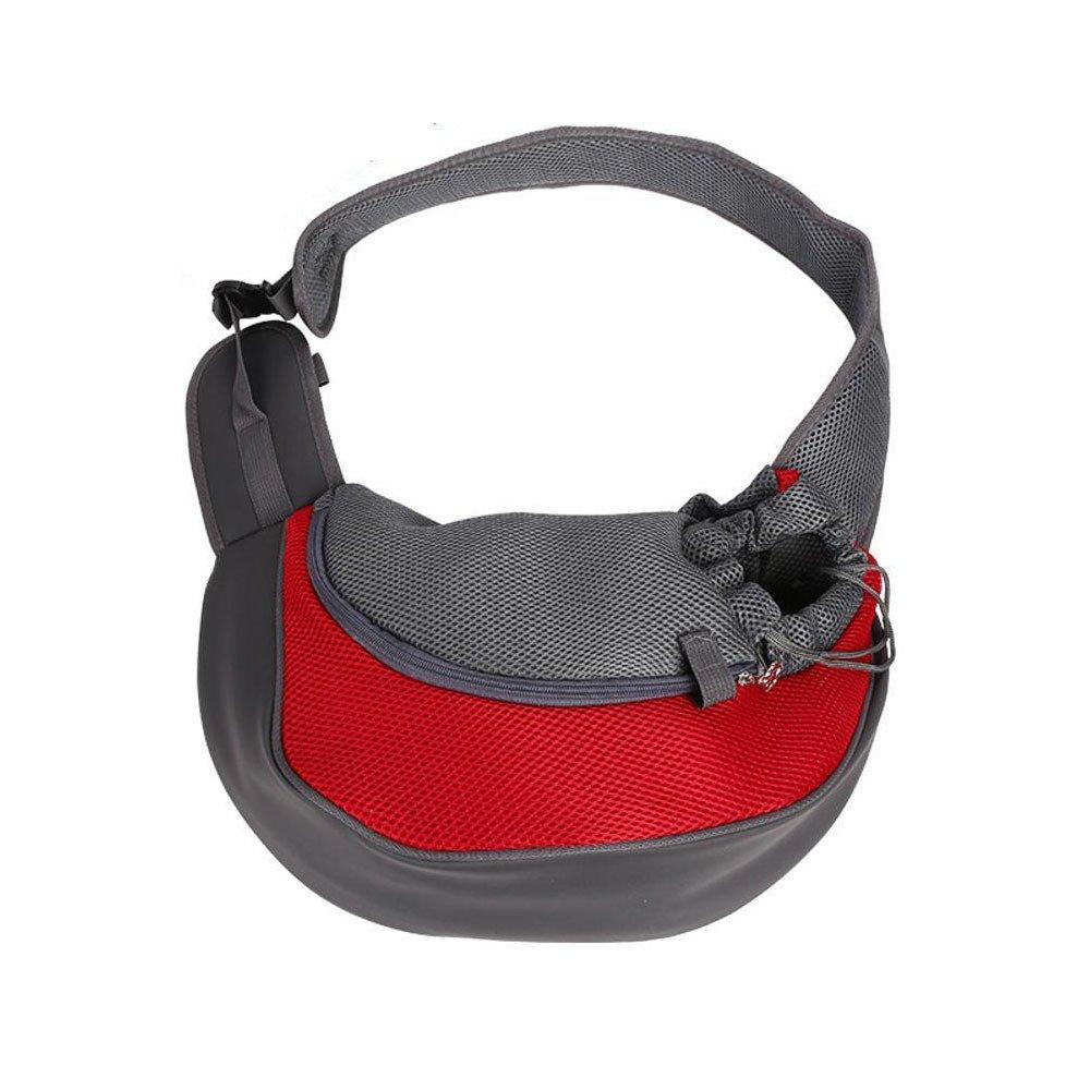 Daeou Zaino per animali domestici Animali di PET borsa viaggio portatile borsa a tracolla diagonale Mesh traspirante