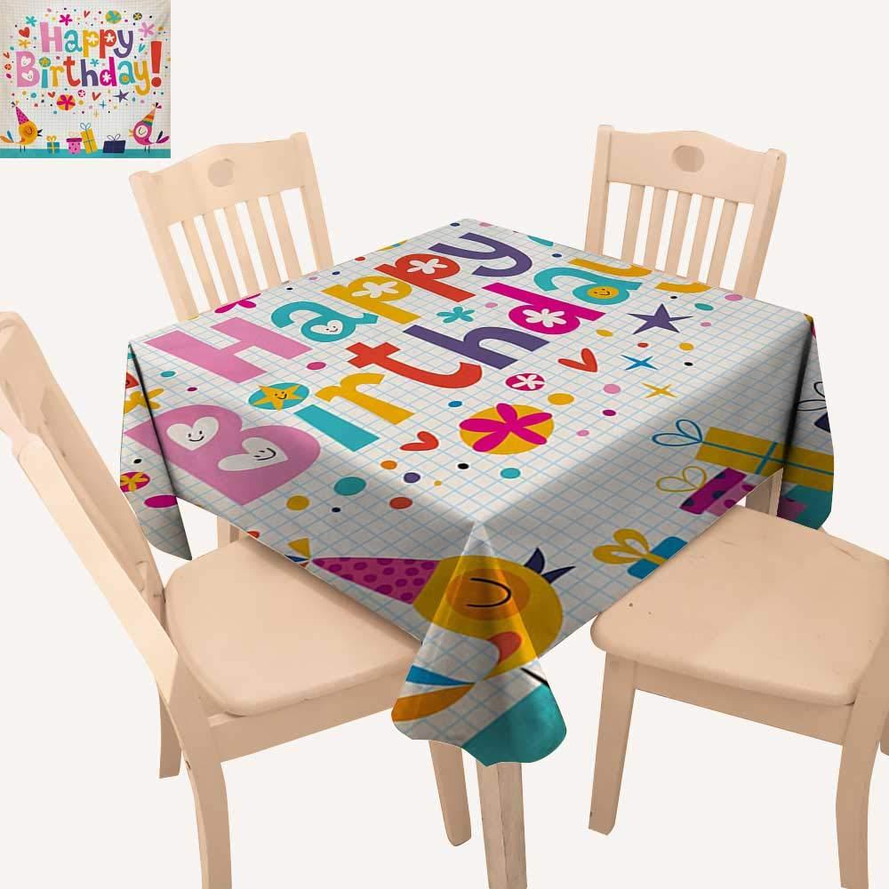Amazon.com: Angoueleven - Mantel de tela para cumpleaños ...