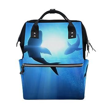 COOSUN Natación Dophins Mochila bolsa de pañales, de gran capacidad Muti-función del recorrido del morral Grande Multicolor: Amazon.es: Bebé