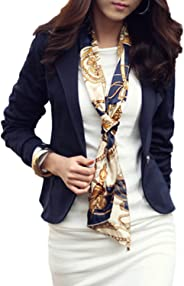 Womens OL Blazer Tops Lapel Business Outfit Slim Jackets