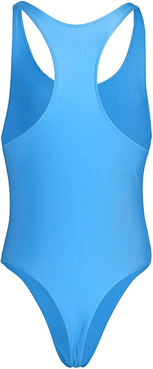 YOOJIA Mens Racer Back Bodysuit Stretch Slim Cut Leotard Thongs Singlet Bikini Swimsuit