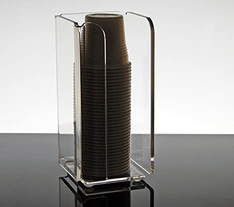 Slato dispensador Porta Vasos plástico de café de plexiglás Transparente Narciso