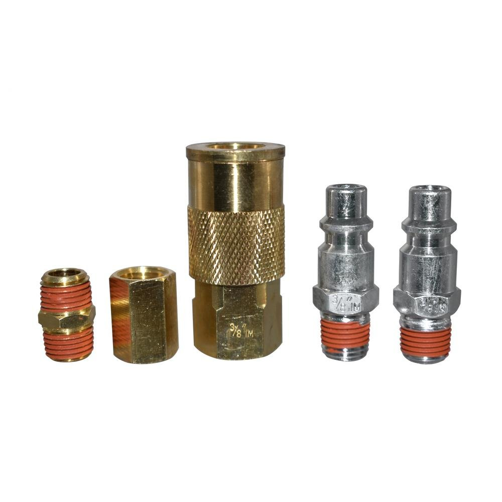 5-Piece 1/4 in. NPT x 3/8 in. I/M Coupler Kit