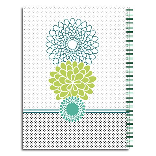 Floral Traditionalist Personalized Flower Monogram Spiral Notebook/Journal, 120 College Ruled or Checklist Pages, durable laminated cover, and wire-o spiral. 8.5x11 | 5.5x8.5 | Made in the USA Photo #3